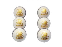 Kakss Turf Cricket Ball -   Size: Full Size,  Diameter: 21 Cm (Pack Of 6, White)