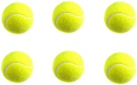 Sahni Sports Tennis Cricket Ball -   Size: Standard,  Diameter: 6.5 Cm (Pack Of 6, Yellow)