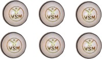 VSM Tournament Series Cricket Ball -   Size: 3,  Diameter: 7.5 Cm (Pack Of 6, White)