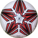 Hikco Shooting Star Football -   Size: 5,  Diameter: 22 Cm - Pack Of 1, White, Red, Black