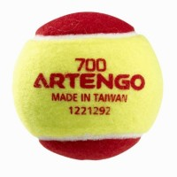 Artengo 700 Tennis Ball -   Size: Standard,  Diameter: 7.6 Cm (Pack Of 1, Yellow, Red)