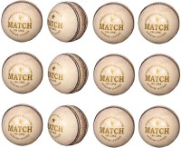Priya Sports PCWHITE-12 Cricket Ball -   Size: 5,  Diameter: 2.24 Cm (Pack Of 12, White)