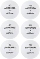 Artengo FB800 TABLE Tennis Ball -   Size: 1,  Diameter: 4 Cm (Pack Of 6, White)