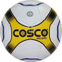 Cosco Milano Football -   Size: 5,  Diameter: 5 Cm (Pack Of 1, White, Yellow)