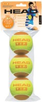 HEAD HD_TIP_2 Tennis Ball -   Size: 4,  Diameter: 5.5 Cm (Pack Of 3, Orange)