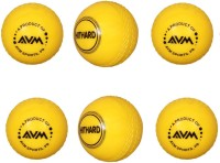 AVM Windball-13 Cricket Ball -   Size: Standard,  Diameter: 6.5 Cm (Pack Of 6, Yellow)