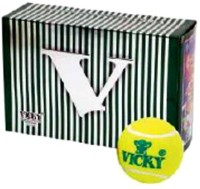 Vicky Cricket Tennis Tennis Ball - Size: Standard, Diameter: 6.54 Cm (Pack Of 3, Yellow)