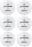 Artengo FB800 Ping Pong Ball -   Size: 4,  Diameter: 4 Cm (Pack Of 6, White)