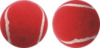 J&JC SISILY ( 2 PCS) Tennis Ball -   Size: 6.5,  Diameter: 6.5 Cm (Pack Of 2, Red)