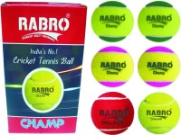 Rabro Champ Cricket Ball - Size: 3, Diameter: 2.3 Cm (Pack Of 12, Multicolor)