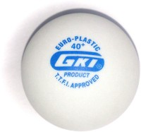 GKI Euro Plastic 2 Star Ping Pong Ball -   Size: 40mm,  Diameter: 4 Cm (Pack Of 12, White)
