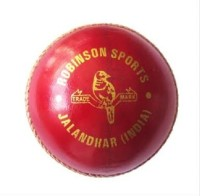 RS Robinson Recorder Supreme Cricket Ball -   Size: 3,  Diameter: 7.2 Cm (Pack Of 1, Red)