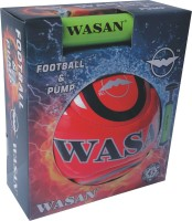 Wasan Football With Pump Football - Size: 5, Diameter: 70 Cm (Pack Of 2, Multicolor)