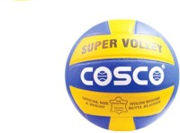 Cosco Super Volleyball -   Size: 4,  Diameter: 20.7 Cm (Pack Of 1, Yellow)