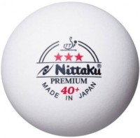 Nittaku Premium 40 + Ping Pong Ball -   Size: 4,  Diameter: 4.01 Cm (Pack Of 3, White)