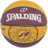 Spalding Team Cavaliers Basketball -   Size: 7,  Diameter: 30 Cm (Pack Of 1, Red, Yellow)