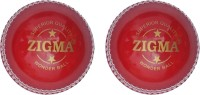 Zigma Wonderball Cricket Ball -   Size: 6,  Diameter: 7.15 Cm (Pack Of 2, Red)