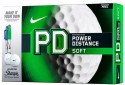 Nike Power Distance Soft Golf Ball - Size: 4, Diameter: 4 Cm - Pack Of 12, White