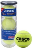 Cosco All Court (pack Of 3) Tennis Ball -   Size: Standard,  Diameter: 2.5 Cm (Pack Of 3, Yellow)