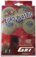 GKI Euro Plastic Ping Pong Ball -   Size: 40+,  Diameter: 4 Cm (Pack Of 6, White)