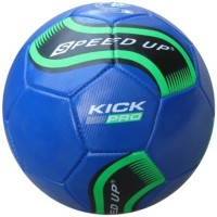 Speed Up Kick Pro Leatherite Football -   Size: 5,  Diameter: 30 Cm (Pack Of 1, Blue)