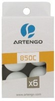 Artengo 850 C2 X6 Ping Pong Ball -   Size: 4,  Diameter: 4 Cm (Pack Of 6, White)