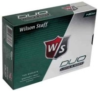 WILSON STF_DUO_GB_GRN Golf Ball -   Size: 5,  Diameter: 4.26 Cm (Pack Of 12, White)