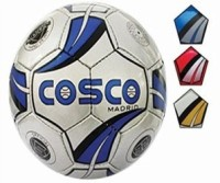 Cosco Madrid Football -   Size: 5,  Diameter: 22 Cm (Pack Of 1, White, Blue, Red)