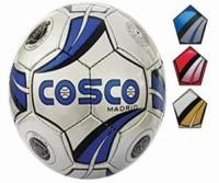 Cosco Madrid Football -   Size: 5,  Diameter: 22 Cm (Pack Of 1, White, Blue, Red)