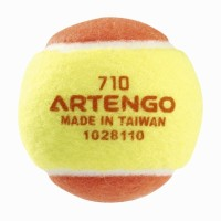 Artengo 710 B Tennis Ball -   Size: 6.4,  Diameter: 6.4 Cm (Pack Of 1, Yellow, Orange)