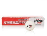 DHS 3 Star Ping Pong Ball -   Size: 40MM,  Diameter: 4 Cm (Pack Of 6, White)