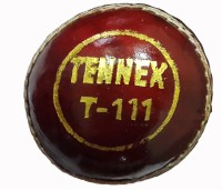 Tennex Leather T-111 Red Cricket Ball - Size: Standard, Diameter: 7 Cm (Pack Of 1, Red)