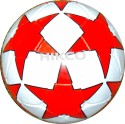 Hikco Star Red Football -   Size: 5,  Diameter: 22 Cm - Pack Of 1, White, Red, Black