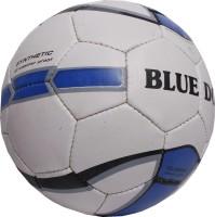 Blue Dot Classic Football -   Size: 5,  Diameter: 21 Cm (Pack Of 1, White)
