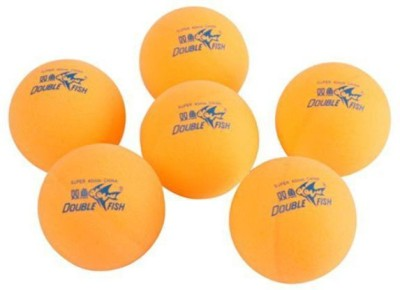 Kobo DOUBLE FISH Tennis Ball -   Size: 40,  Diameter: 2.5 Cm (Pack Of 6, Orange)
