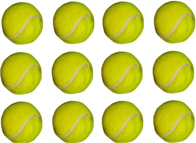 VSM Super Club Tennis Ball -   Size: 3,  Diameter: 2.5 Cm (Pack Of 12, Yellow)