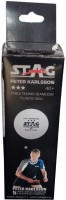 Stag 3 Star Plastic Tennis Ball -   Size: 4,  Diameter: 4 Cm (Pack Of 3, White)