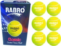Rabro Classictennis Cricket Ball - Size: 3, Diameter: 2.3 Cm (Pack Of 12, Yellow)