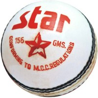 CW Star White Cricket Ball -   Size: Full Size,  Diameter: 22 Cm (Pack Of 3, White)