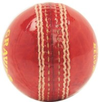Pepup Practice Leather Cricket Ball - Size: 6, Diameter: 6.5 Cm (Pack Of 1, Red)