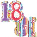 Anagram Radiant Birthday 18 Supershape Printed Balloon - Multicolor, Pack Of 1