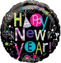 """Anagram Playful Happy New Year 18"""" Printed Balloon - Multicolor, Pack Of 1"""