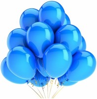 PartyballoonsHK Solid Metallic Blue (Pack Of 50) Balloon (Blue, Pack Of 50)