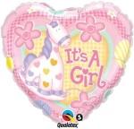 Qualatex It'S A Girl Soft Pony