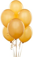Ksm Solid Balloon (Gold, Pack Of 50)
