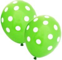 Tiger Polka Dot Printed Balloon (Green, Pack Of 10)