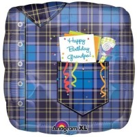 Anagram Grandpa Paid Birthday Printed Balloon (Multicolor, Pack Of 1)