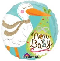 Anagram New Baby Stork Printed Balloon (Multicolor, Pack Of 1) - BLNE3FAWYZQ8J79C