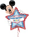 Wanna Party Personalized Mickey Birthday Printed Balloon - Red, White, Pack Of 1
