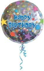 "Anagram Happy birthday Confetti 18"""